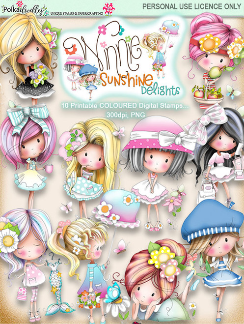 Winnie Sunshine Delights COLOUR Bundle digi scrap printable download