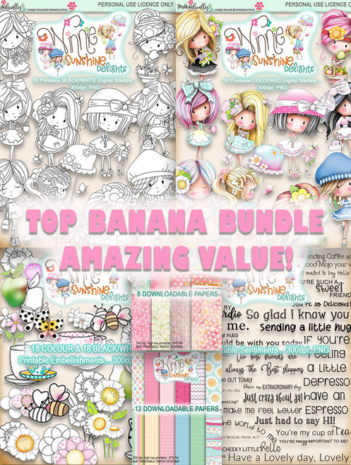 Winnie Sunshine Delights Top Banana Bundle digi scrap printable download