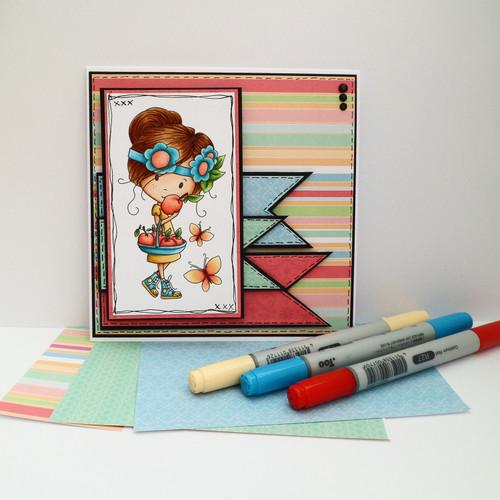 "Winnie Sunshine Delights 6""x 6"" Paper Pack 2 digi scrap printable download"