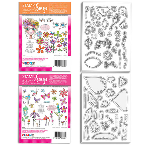 STAMP SOUP - Garden Surprise collection - 54 stamps