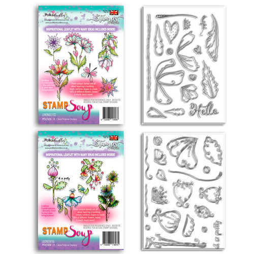 Stamp Soup - Lavender Tea & Lemonade Fizz collection - 54 stamps