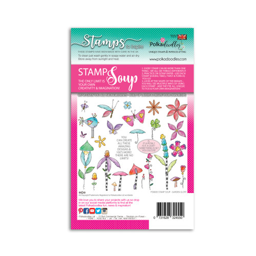 STAMP SOUP - GARDEN GLORY - 24 stamps