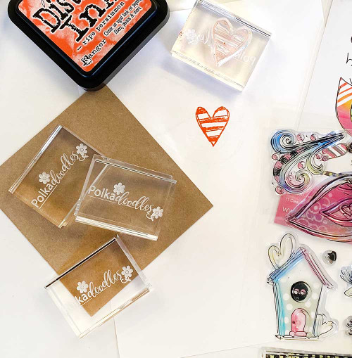 LIMITED EDITION Small Rectangle Acrylic Stamping Block