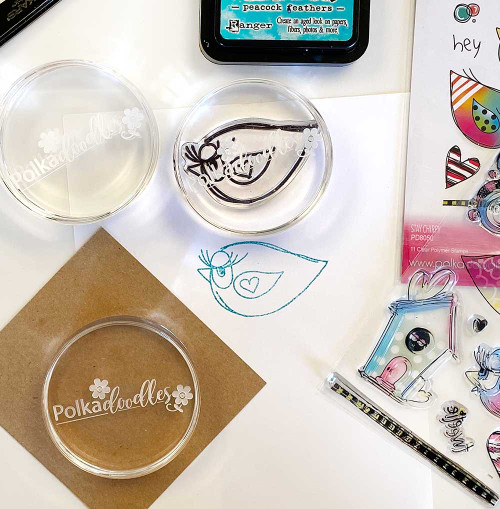 LIMITED EDITION Round Acrylic Stamping Block 70mm dia