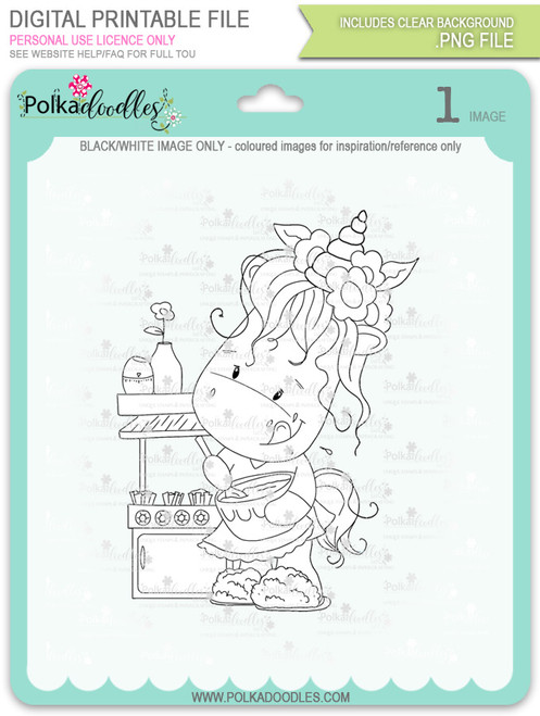 Baketime - Sparkle Unicorn digi stamp download