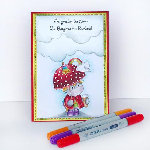 Believe in Rainbows - Sparkle Unicorn digi stamp download