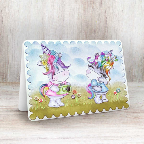 Camera Shy - Sparkle Unicorn digi stamp download