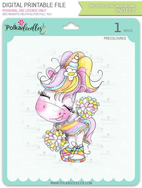 Cheer - Sparkle Unicorn COLOUR digi stamp download