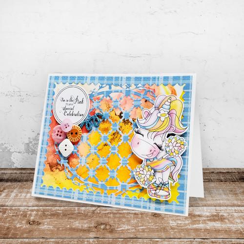 Cheer - Sparkle Unicorn digi stamp download
