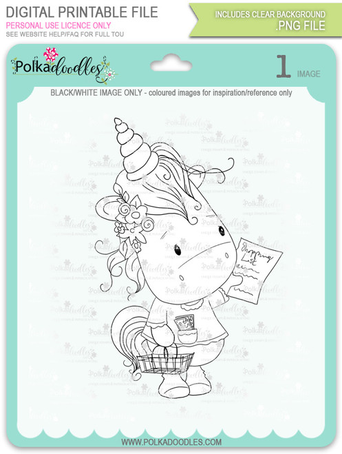 Coupon Day - Sparkle Unicorn digi stamp download