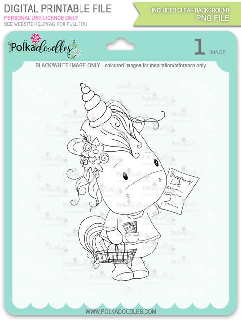 Coupon Day - Sparkle Unicorn digi stamp download