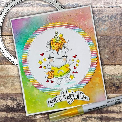 Hooray - Sparkle Unicorn digi stamp download