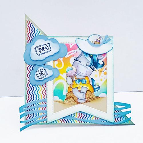 Ice Cream Days - Sparkle Unicorn digi stamp download