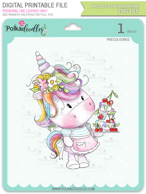 Surprise - Sparkle Unicorn digi stamp download with Cutting File