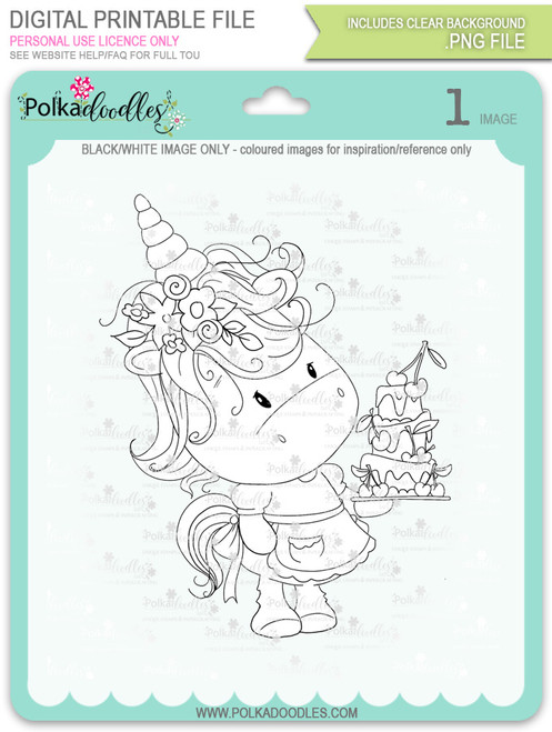 Surprise - Sparkle Unicorn digi stamp download