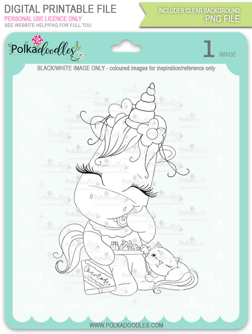 Treat for Two - Sparkle Unicorn digi stamp download