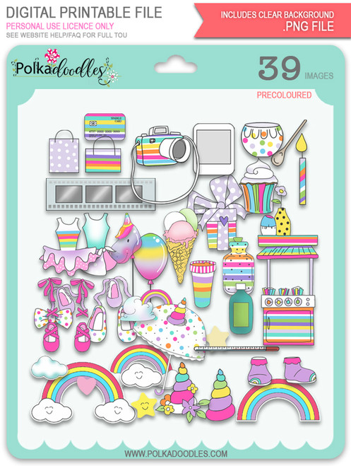 Accessories - Sparkle Unicorn digital download bundle