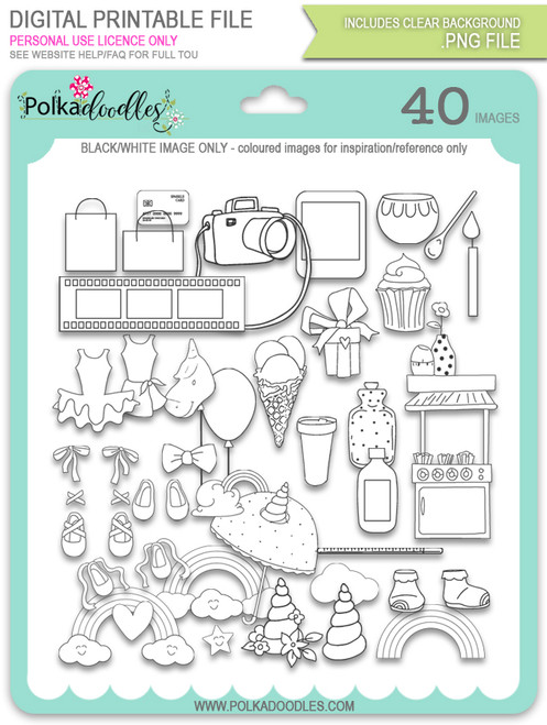 Accessories Digital Stamps - Sparkle Unicorn digital download bundle