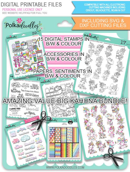 Sparkle Unicorn BIG KAHUNA - digital download bundle