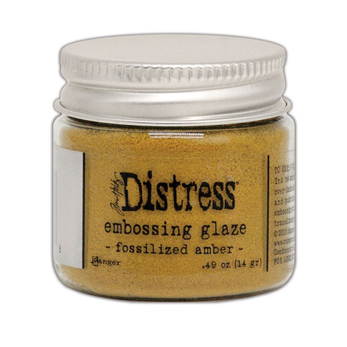 Distress Embossing Glaze - Fossilized Amber (TDE70986)