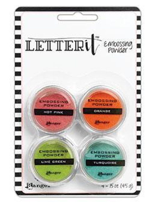 Letter It embossing powders - Brights, 4 pack