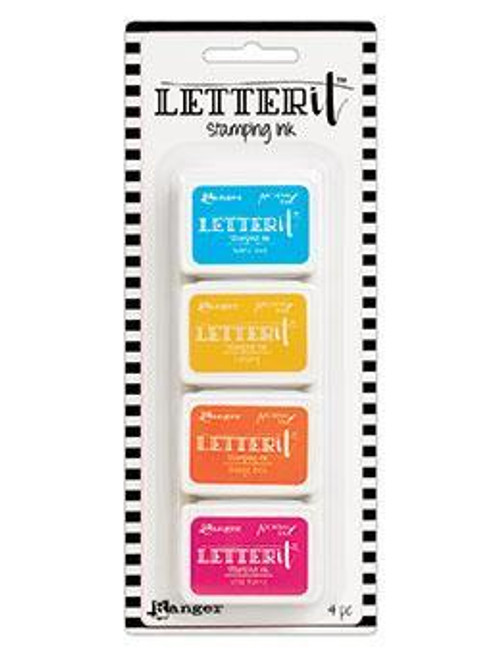 Letter It - Stamping Ink Set 3 - BELIZE BLUE, CANARY, ORANGE BLISS, WILD BERRY
