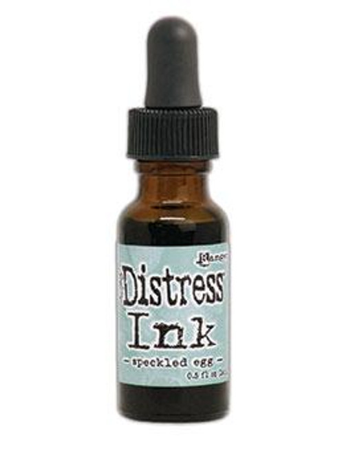 Speckled Egg Distress Reinker - Tim Holtz. Re-Inkers can be used to re-ink Distress Ink Pads, which are sold separately. Is your inkpad going dry? Simply drip new ink onto the pad to reinvigorate it again. Eco friendly. You can also use reinkers to colour - just use a paintbrush with the ink!  Re-Inkers are available in 0.5oz amber glass bottle with an eye drop applicator Acid Free Non-Toxic Fade Resistant