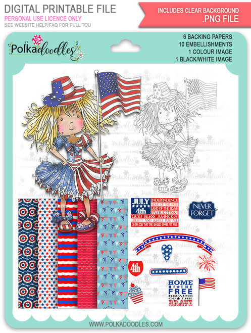 USA 4th July Celebration - Free digital download bundle