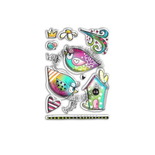 Stay Chirpy -  Clear Polymer stamp set
