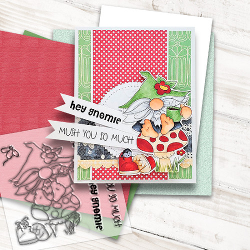 Gnome For Tea - 6 Clear Stamps