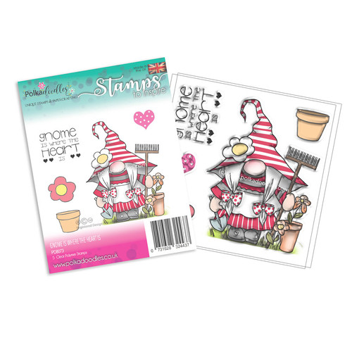 Gnome Is Where The Heart Is - 5 Clear Stamps