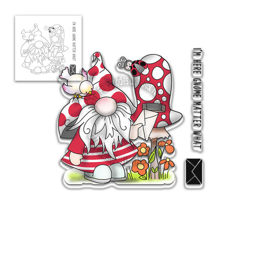 Gnome Matter What - 3 Clear Stamps