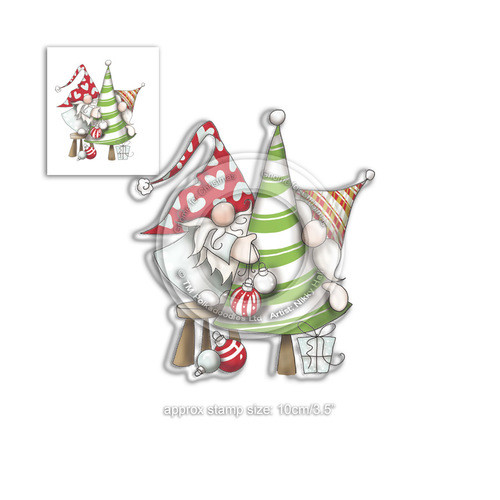 Decorating the Tree - Clear Polymer Stamp