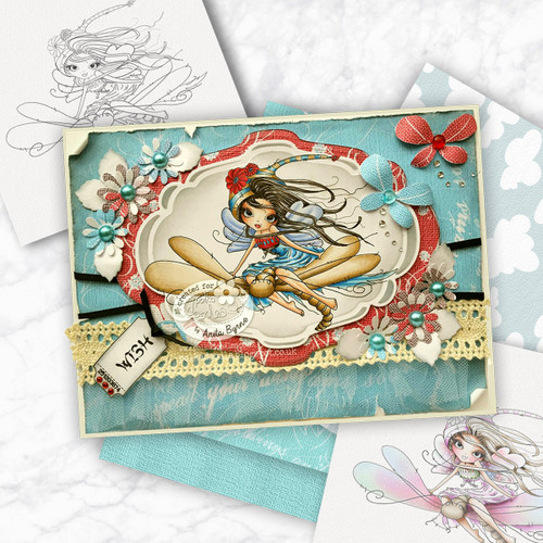 Octavia Moonfly Dragonfly Digital Stamp Craft Download