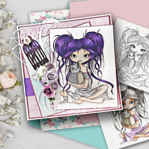 Octavia Best Friends digital stamp download