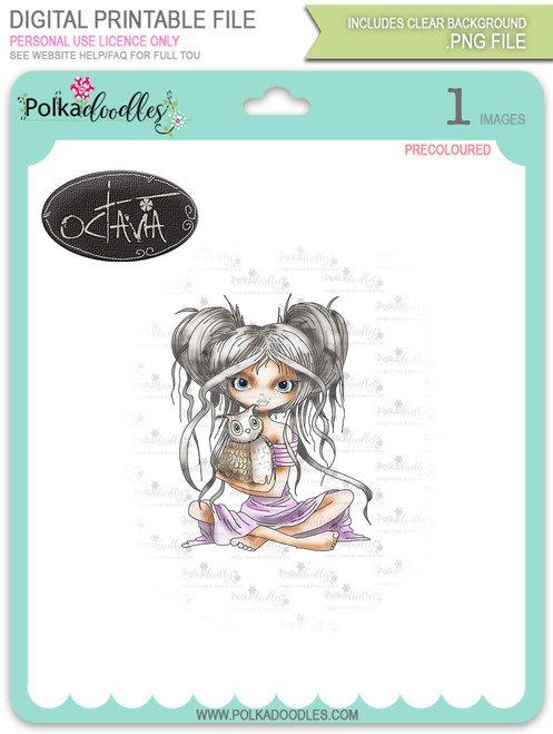 Octavia Best Friends - precoloured digital stamp download