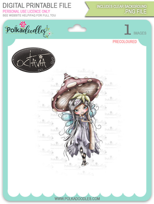 Octavia Moonfly Wistful Digital Stamp Craft Download
