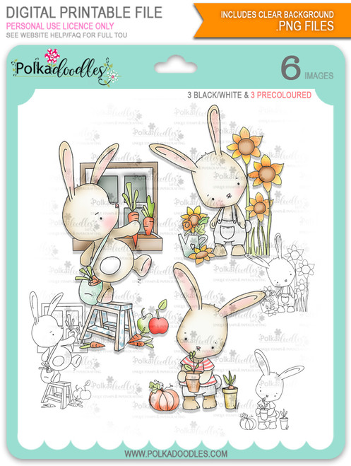 Gil Rabbit Big Bundle digi stamps with SVG/DXF Cutting Files