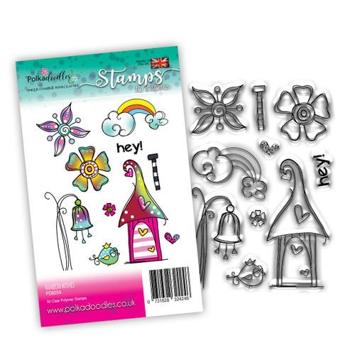 RAINBOW WISHES - 10 clear stamps