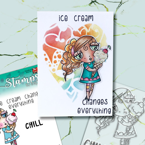 Weirdre Ice Cream Changes Everything - 3 clear stamps