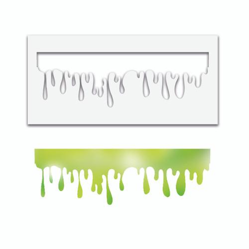 Grungey Slime halloween stencil