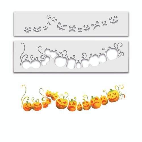 Pumpkins halloween Layering stencil - 2 stencils