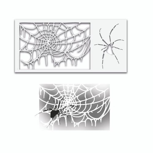 Spider Web halloween stencil