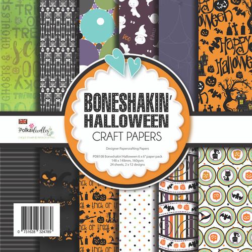 """Boneshakin Halloween paper pack 6 x 6"""""""
