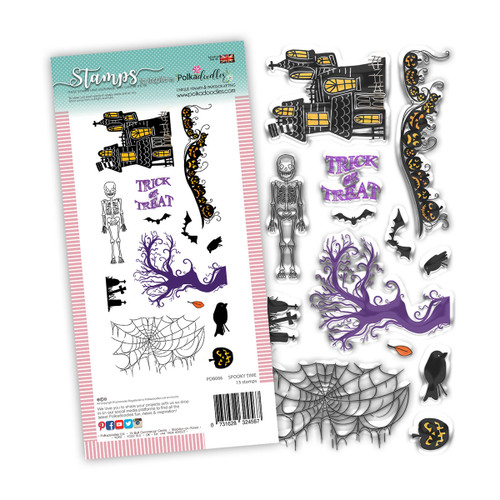 Spooky Time stamp set - 13 stamps