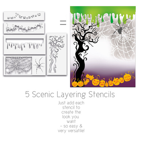Halloween Layering Stencils x 4