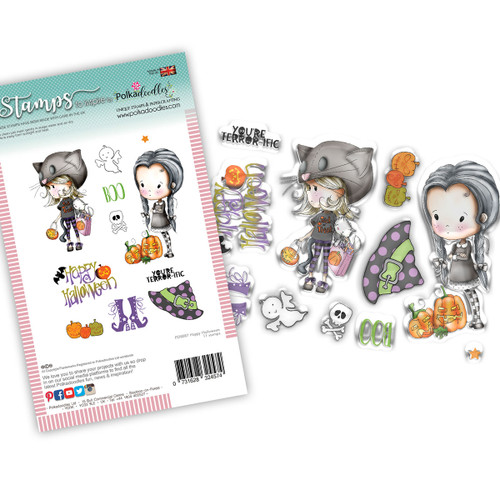 Happy Halloween Winnie Wednesday clear stamp set