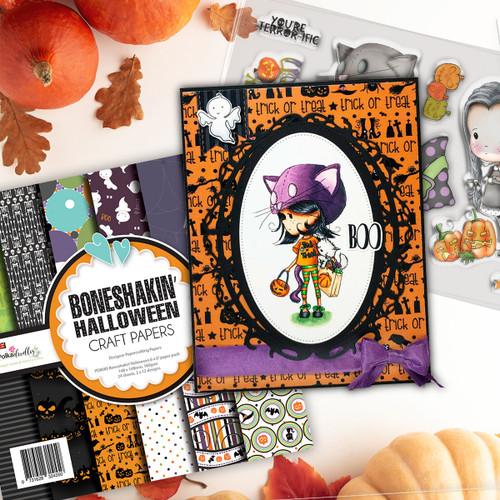 Happy Halloween Winnie Wednesday clear stamp set