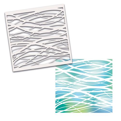 """Land and Sea stencil - 6x6"""""""