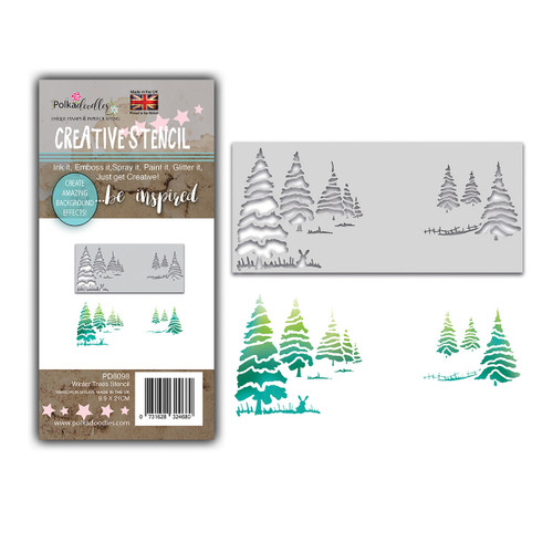 Christmas Trees Layering Stencil
